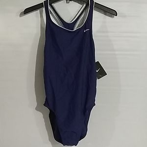 Nike Tess One Piece Crossback Swimsuit Size 14 NWT